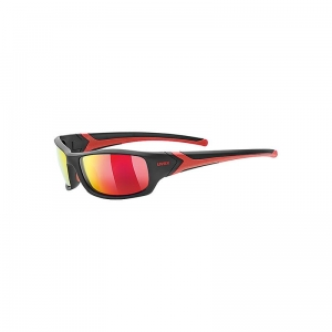 Okulary Uvex Sportstyle 211 Black POLA Red