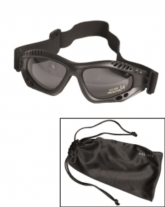 Gogle Commando Air Pro Mil-Tec Black Smoke