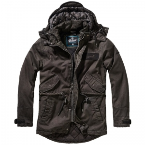 Kurtka Brandit Parka Nile Coated Men Black