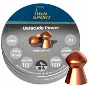 Śrut H&N Diabolo Baracuda Power 5,5 mm - 200 szt