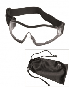 Gogle Commando Para Mil-Tec Black Clear