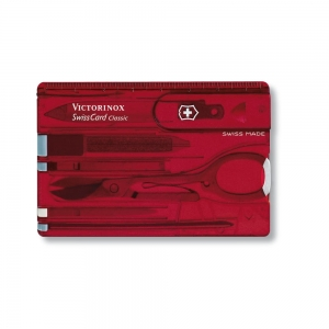 Karta SwissCard Victorinox Transparent Red